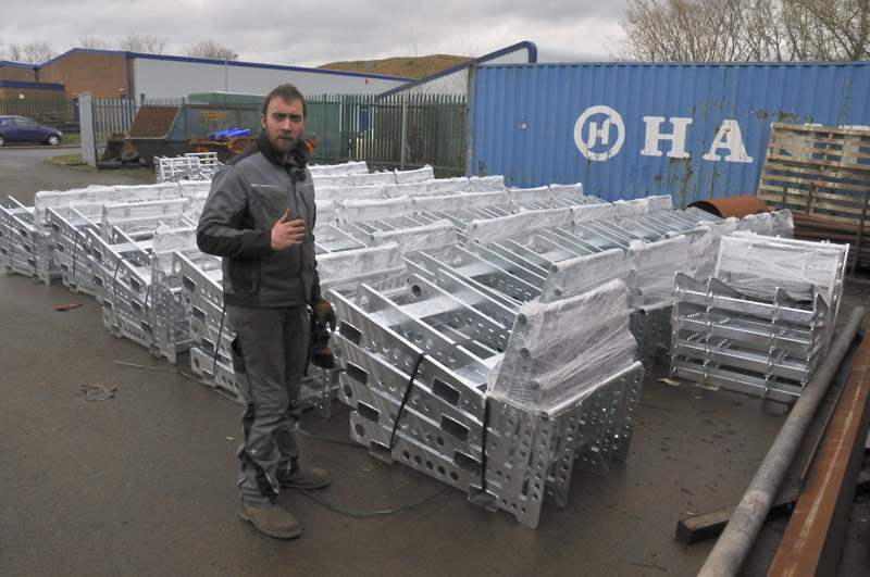 Galvanised slab-pallets at Mid & West