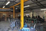 The workshop in Machynlleth. Click for an enlargement.
